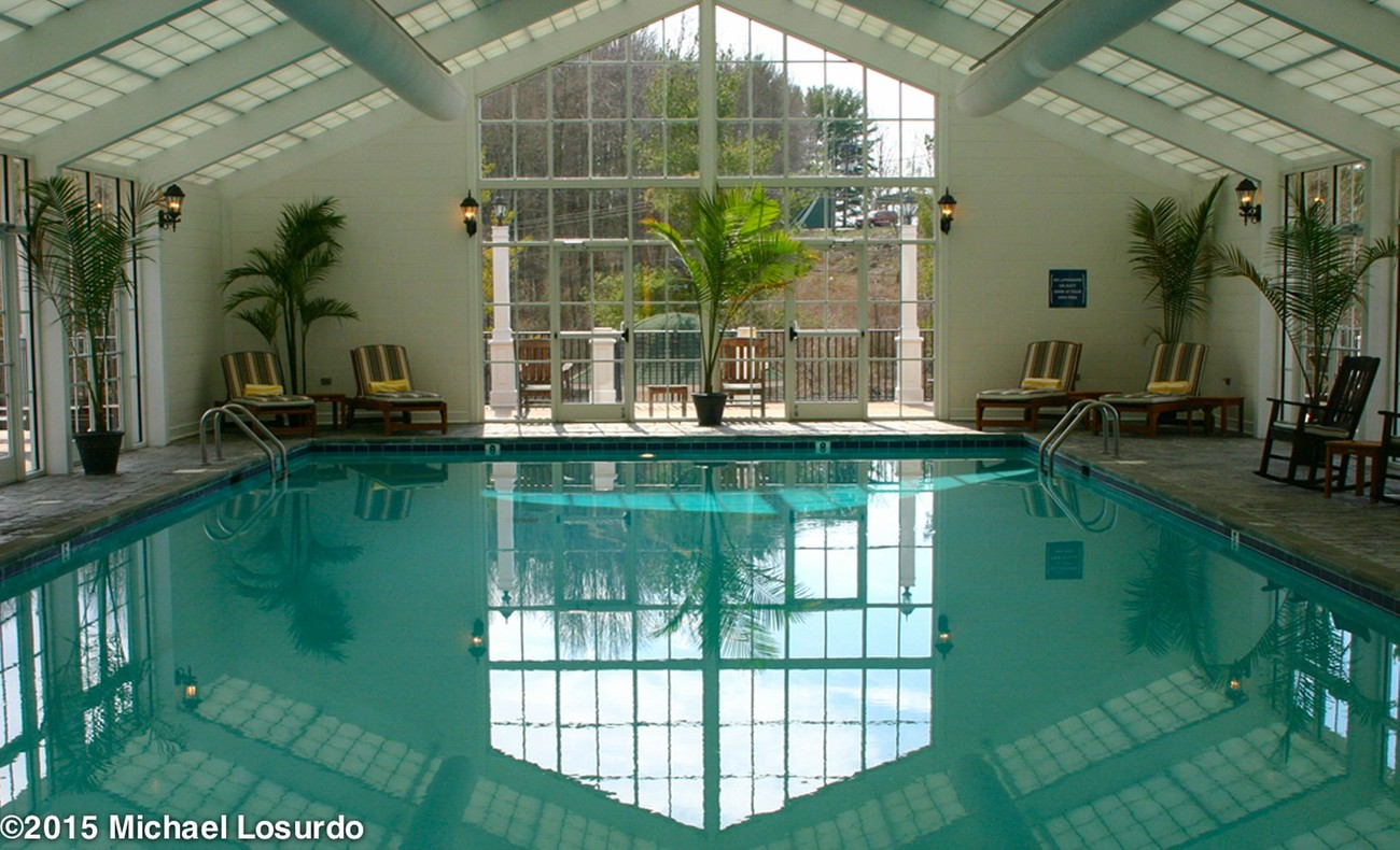 This is the beautiful pool area at the Martha Washington Inn Abingdon, VA