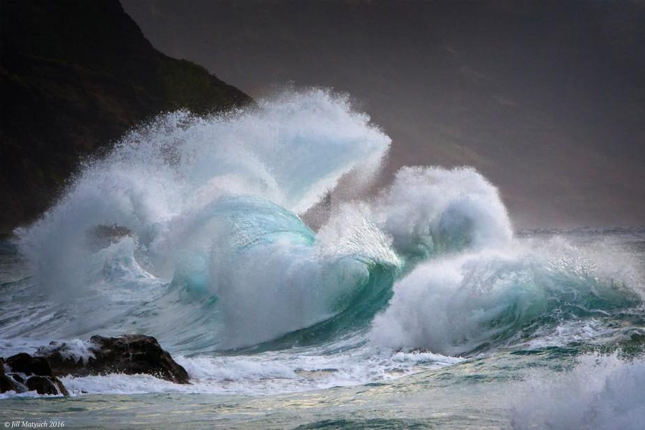This image was the culmination of a wonderful week exploring the island of Kauai! Perfect aqua an...