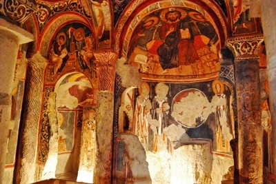 Cappadocia's ancient rock icons churches see TURKEY