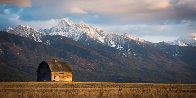 Barn in Pablo, MT (Mission Mountains) by scottwilson - Rule Of Thirds Photo Contest v3