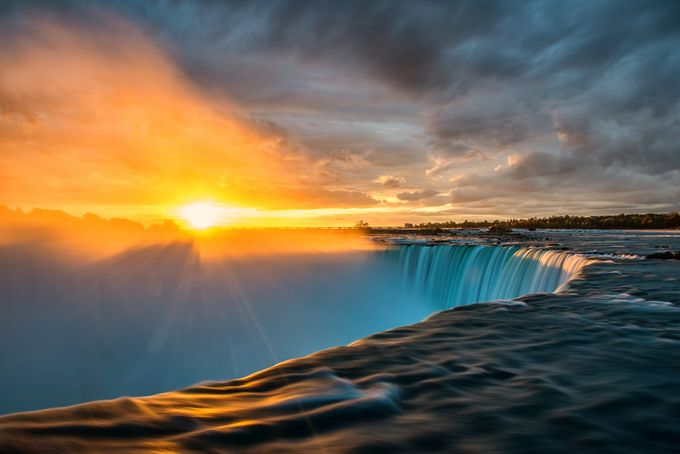 Sunrise over Niagara Falls, Ontario by angie_1964 - Around the World Photo Contest By Discovery