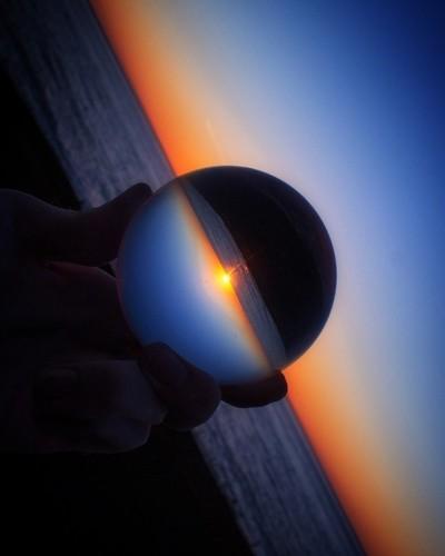 Glass Ball Sunset