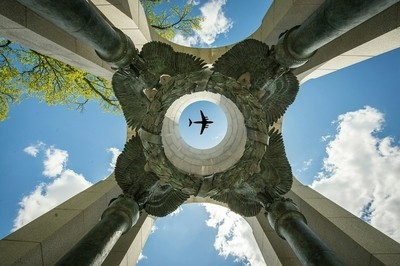 Looking Up at the WWII Memorial