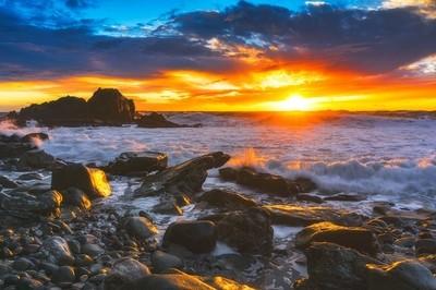 Victory at sea. Laguna beach, California.