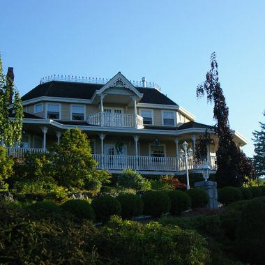 Grand House on the Hill on the Coast of British Columbia