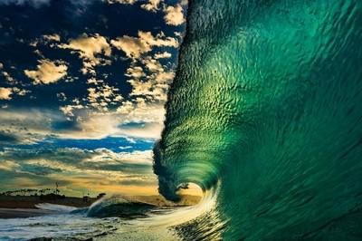The Wedge Newport beach, California.