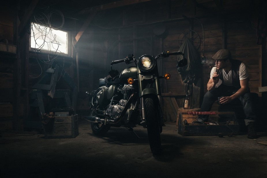 This was the hero shoot of our Royal Enfield shoot. Shot on the Fuji X100s.