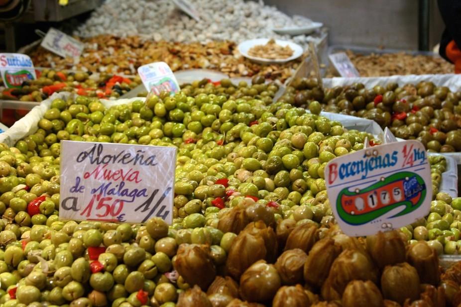 Malaga, Spain market.
