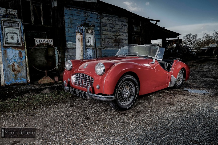 A stunning 1956 Triumph TR3 fully restored to it's former glory..