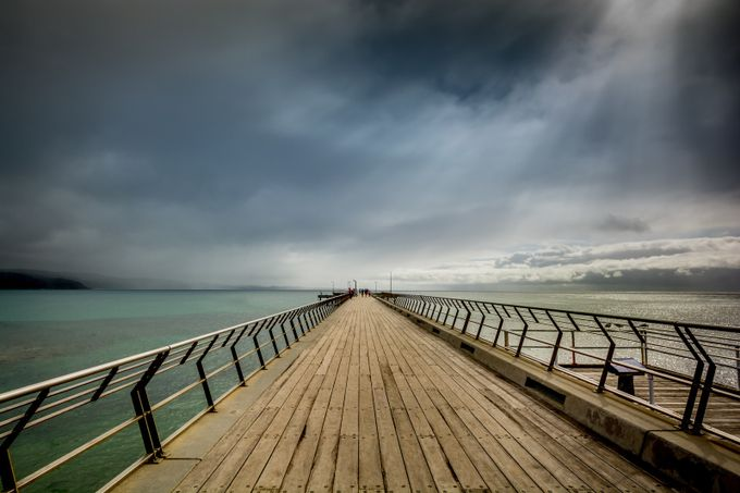 Lorne Pier by Sandra-365 - Composition And Leading Lines Photo Contest