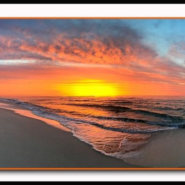 Sunrise on LBI as I take my morning walk for coffee