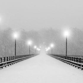 "In the midst of the Richmond ""blizzard"" of 2016 the Boulevard Bridge (Nickel Bridge) was closed due to the snow, so I took advantage of..."