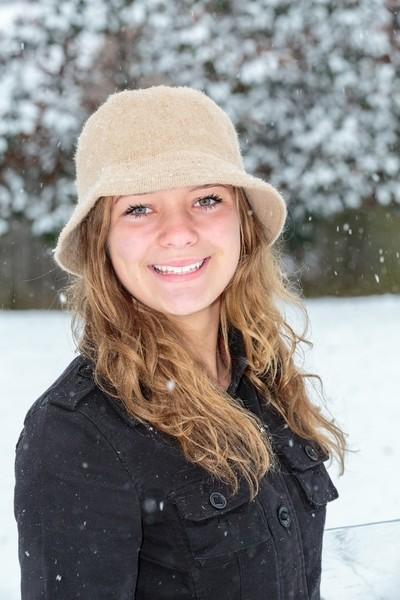 Falling Snow Portrait