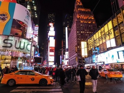 Times Square before the Snow