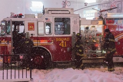 Engine 41 in the snow