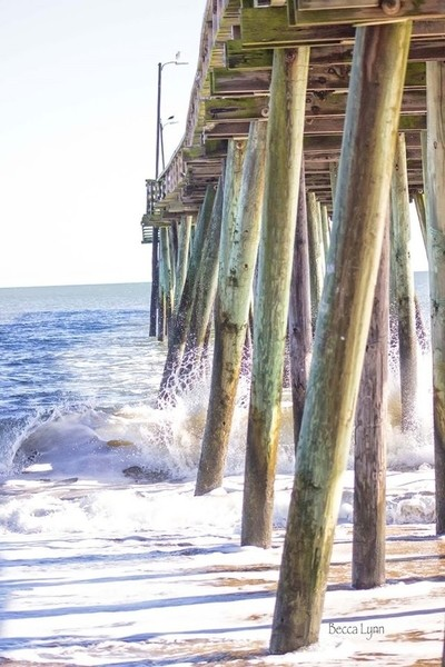 Fishing Pier In Virginia Beach, Virginia