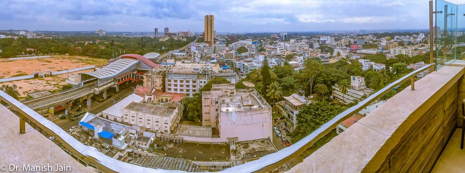 Looking over Banglore city