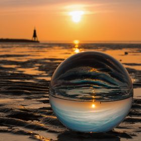 Glassball in the tidelands of Cuxhaven