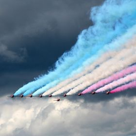The Red Arrows come to Ascot