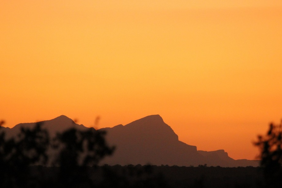 Sunset over my favourite mountains