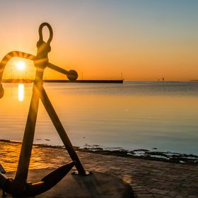 Photographed this Anchor with the sun shining through it. Made for a lovely sunrise photo.