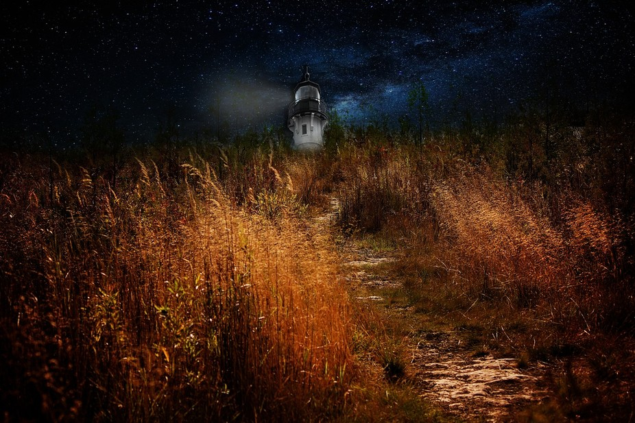 Door County WI at the end of this path was a lighthouse that stood the test of time on Lake Michi...