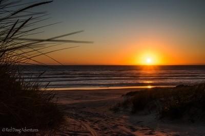 Jasper beach sunset