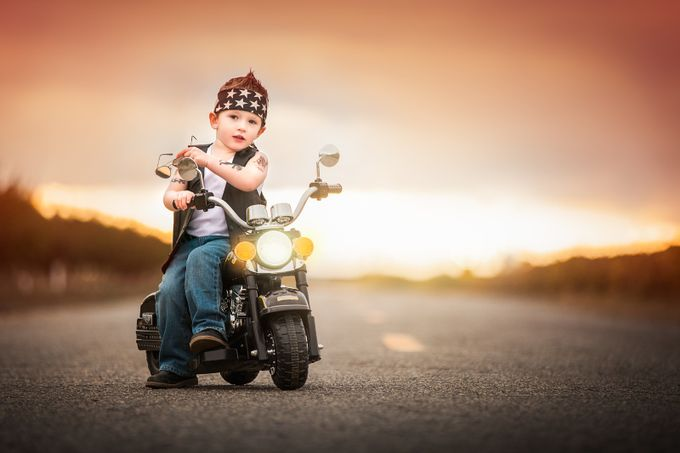 Highway To Hell by Julieweiss - Kids With Props Photo Contest