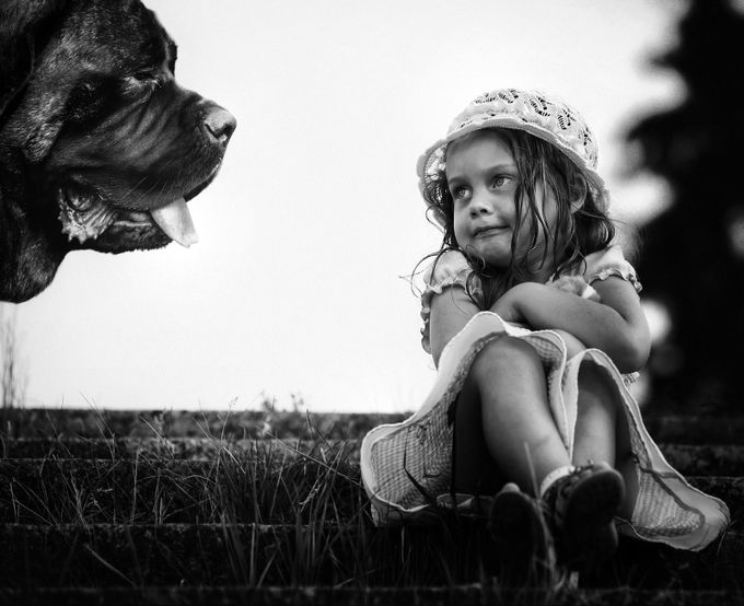 Don't be afraid, Mademoiselle, just let me be your friend by romanmordashev - Children and Animals Photo Contest