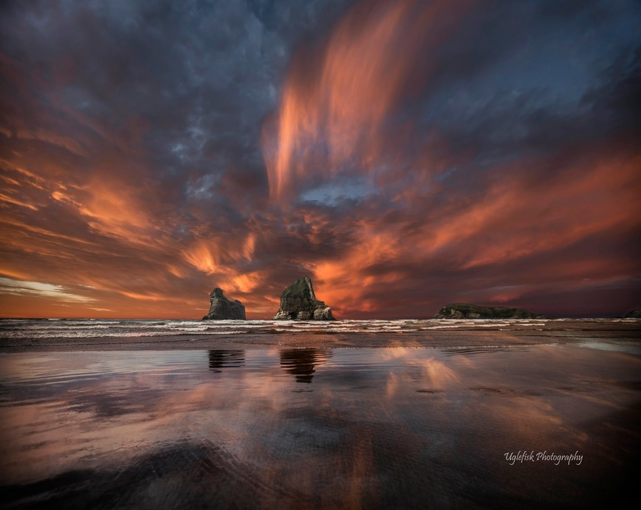Photo taken at Wharariki Beach, New Zealand.