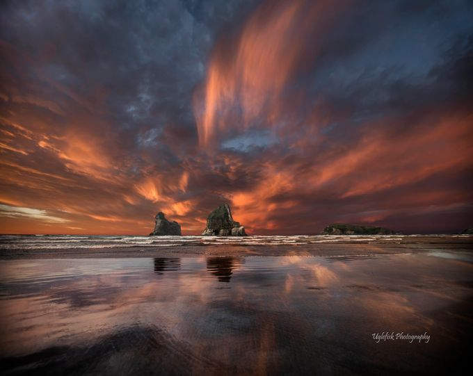 Wharariki Beach by paaluglefisklund - The Moving Clouds Photo Contest