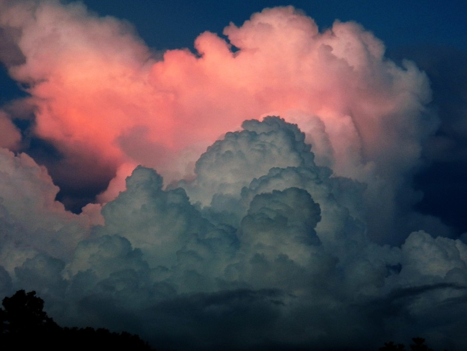 Pink and Grey storm clouds