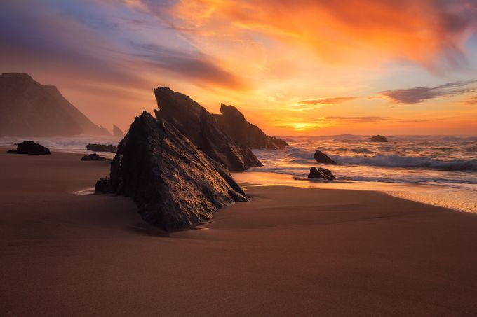Adraga Beach Sunset, Sintra-Portugal by Migas - The Emerging Talent Awards