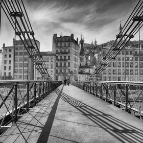 Saint Vincent Bridge over the Saone river in Leon France