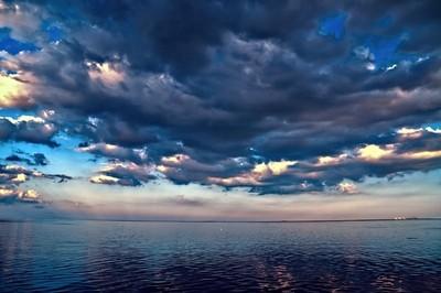 Sunset On Lake Sabine