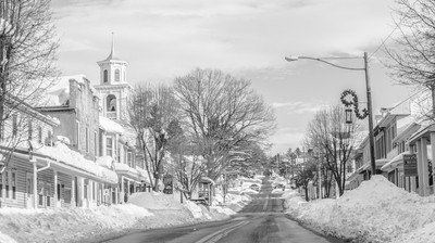 Hometown in the snow.