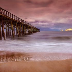 Very cold and windy day at the Flagler Beach pier in Florida but captured this beautiful cloudy sunrise.