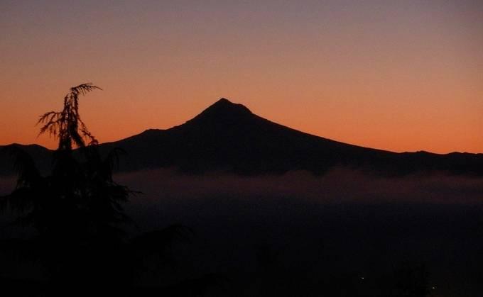 Mt. Hood, Oregon USA  We live at her base.  Yes, she's a she.