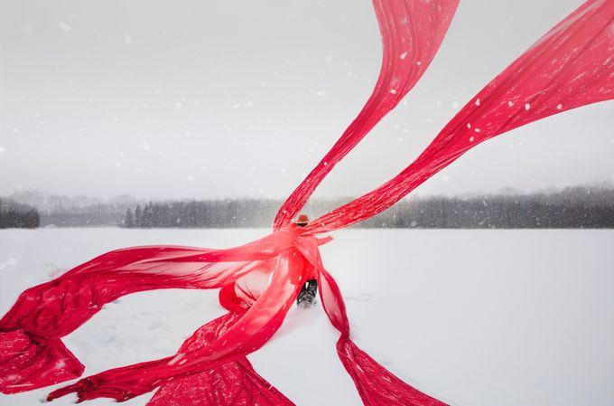 Snow Ribbon by GigiJim08 - Red Tones Photo Contest