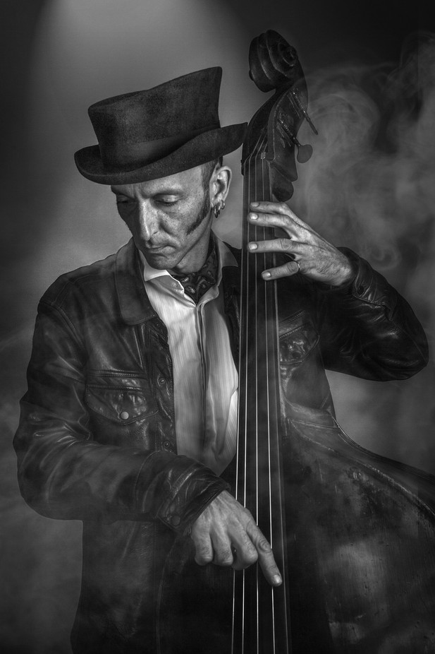 Jules Smoking Bass by davidleyland - Musical Instruments Photo Contest