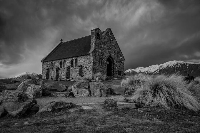 Church of the Good Shepherd by duanenorrie - Black And White Compositions Photo Contest vol2