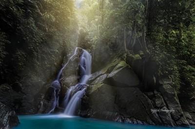 Pria Laot Waterfall, Pulau Weh, Sumatra.