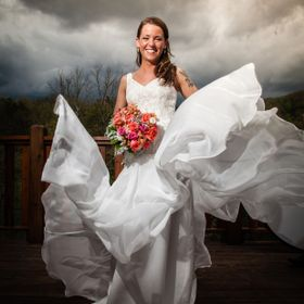During a wedding the wind got little crazy and created a wonderful bride portrait