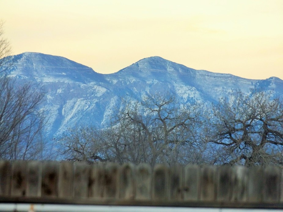 the mountains from my back yard