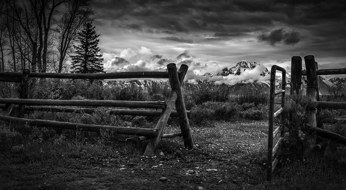 Tetons and Gate by garyhunter_6788 - Fences Photo Contest