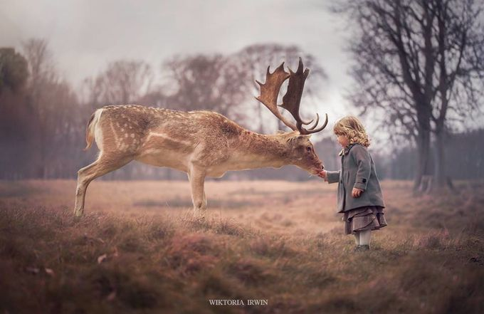Trust by Wiktoria_irwin - Children and Animals Photo Contest