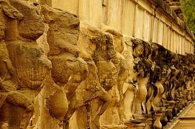 Pallava Architecture Side Wall