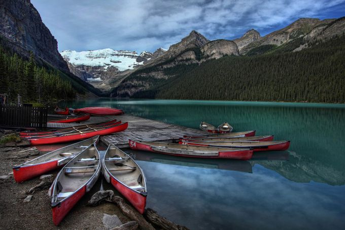 Canoes for hire by AlanJ - HDR Landscapes Photo Contest