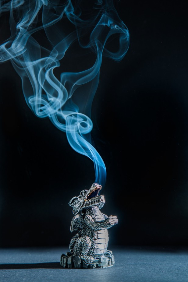 Smoking dragon  by julie_cavell - Everything Smoke Photo Contest