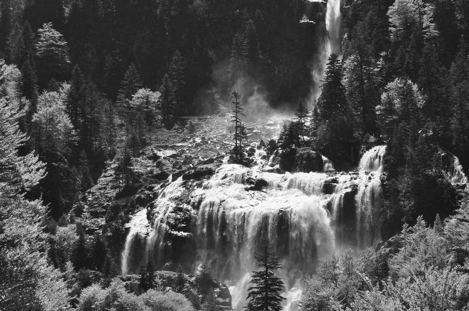 The Cascade D'Ars is a spectacular waterfall, particularly in spring. The vapour can be seen rising above the trees a mile away, and then you hear the roar….